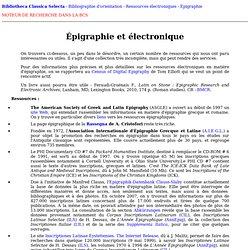 Épigraphie et électronique