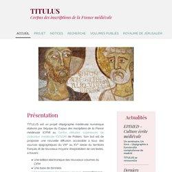 TITULUS - Épigraphie médiévale numérique