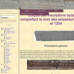Epigraphie byzantine - Présentation générale