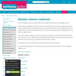 Epileptic seizures explained