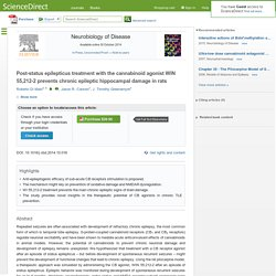 Post-status epilepticus treatment with the cannabinoid agonist WIN 55,212-2 prevents chronic epileptic hippocampal damage in rats