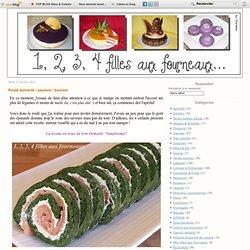 Roulé épinards / saumon / boursin