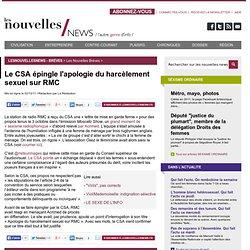 Le CSA épingle l'apologie du harcèlement sexuel sur RMC