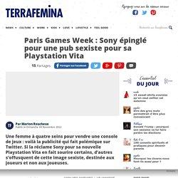 Paris Games Week : Sony épinglé pour une pub sexiste pour sa Playstation Vita