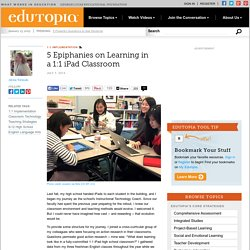 5 Epiphanies on Learning in a 1:1 iPad Classroom