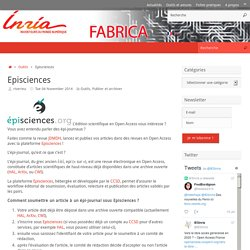 Episciences – Fabrica