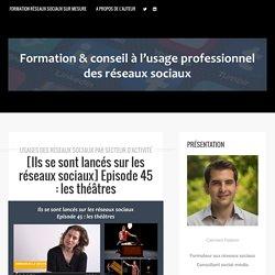 Episode 45 : les théâtres - Formation réseaux sociaux