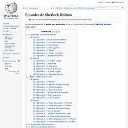 Épisodes de Sherlock Holmes