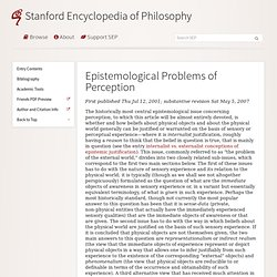 Epistemological Problems of Perception