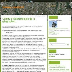 Un peu d'épistémologie de la géographie... - Le blog de Olivier