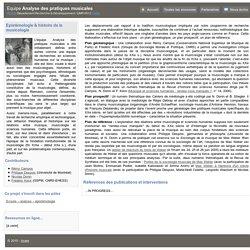Epistémologie & histoire de la musicologie - APM