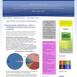 Epistémologie wikipédienne : vérité et vérifiab