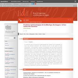 Évolution épistémologique de la didactique des langues: la face cachée des émotions