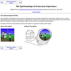 The Epistemology of Conscious Experience