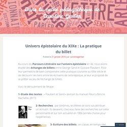 Univers épistolaire du XIXe : La pratique du billet