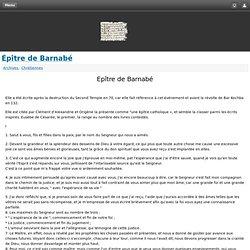 Épître de Barnabé