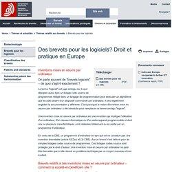 EPO - Des brevets pour les logiciels?