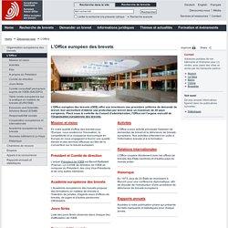 L'Office européen des brevets