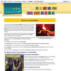 Épocas geológicas de la Tierra