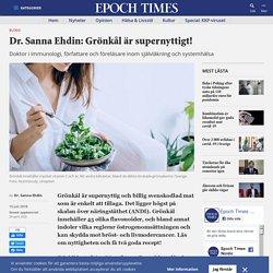 Dr. Sanna Ehdin: Grönkål är supernyttigt!