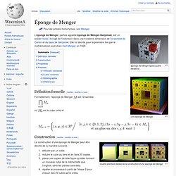 Éponge de Menger