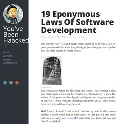 19 Eponymous Laws Of Software Development