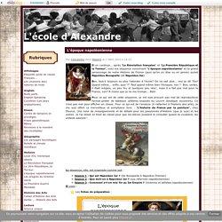 L'époque napoléonienne - L'école d'Alexandre