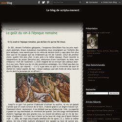 Le goût du vin à l'époque romaine - Le blog de scripta-manent
