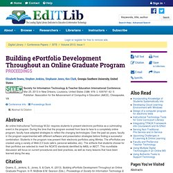 Building ePortfolio Development Throughout an Online Graduate Program