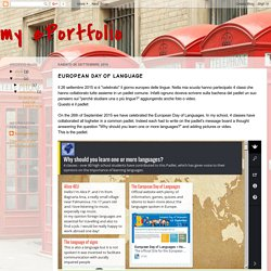 my ePortfolio: EUROPEAN DAY OF LANGUAGE
