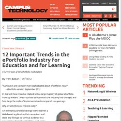 12 Important Trends in the ePortfolio Industry for Education and for Learning