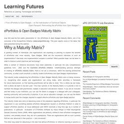 ePortfolios & Open Badges Maturity Matrix