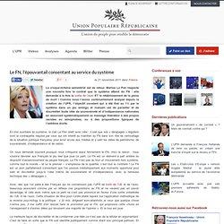 Le FN, l'épouvantail consentant au service du système - Élections présidentielles 2012, F. ASSELINEAU