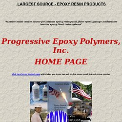Progressive Epoxy Polymers and Resins - Epoxy Paint and Repair Products / Marine and floor coatings