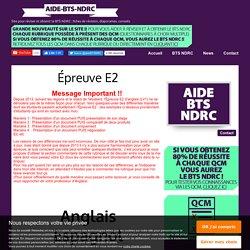Épreuve E2 - aide-bts-ndrc.overblog.com