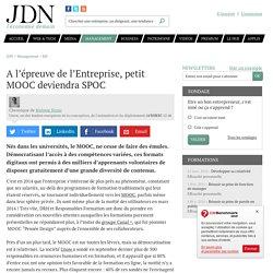 A l'épreuve de l'Entreprise, petit MOOC deviendra SPOC