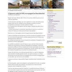 L'épreuve orale de DNL en espagnol au baccalauréat - Lycée Jacques Monod, CLAMART
