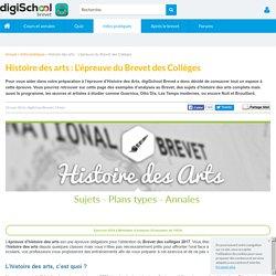 Histoire des arts au brevet des collèges