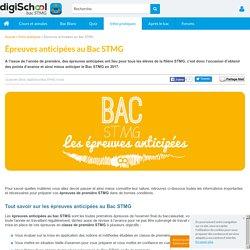 Epreuves anticipées Bac STMG 2017 : français et gestion 1ère