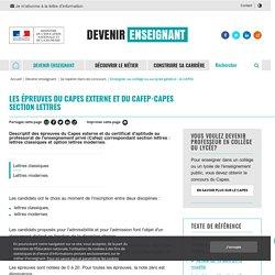 Les épreuves du Capes externe et du Cafep-Capes section lettres - Devenir enseignant