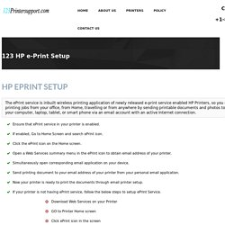 123 HP ePrint Setup & Install from your mobile phone