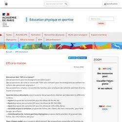 Académie de Paris : EPS à la maison