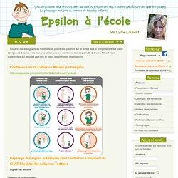 Epsilon à l'école - Repérage des signes précoses de l'autisme