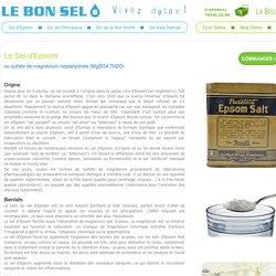Le Bon Sel - Sel d'Epsom - Sels detox pour cures et bains