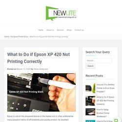Epson XP 420 Not Printing