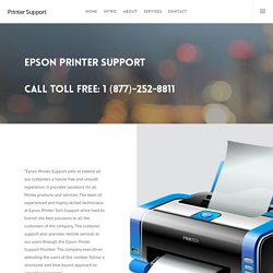 Epson Printer Customer Phone Number Call 1 (877)-252-8811