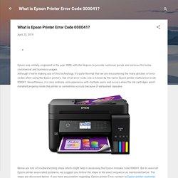 What is Epson Printer Error Code 000041?