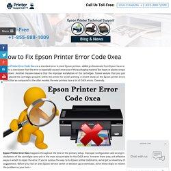 Fix Epson Printer Error Code 0xea