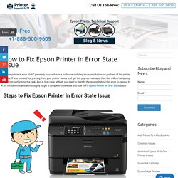 How to Fix Epson Printer in Error State Issue
