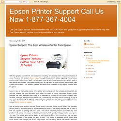 Epson Support: The Best Wireless Printer from Epson